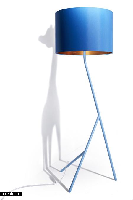 Высокий торшер-жираф