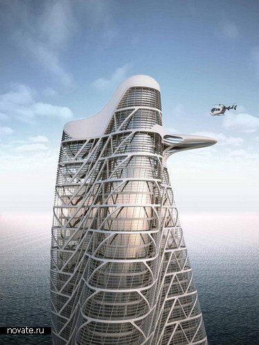 Перекрученная Strata Tower в Абу Даби