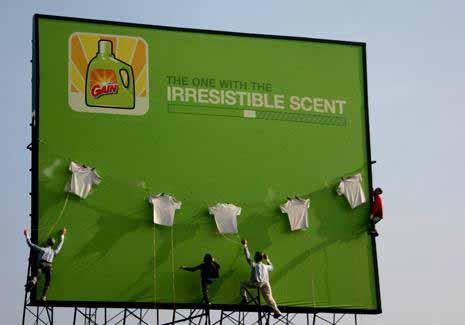 Реклама моющего средства Irresistible Scent