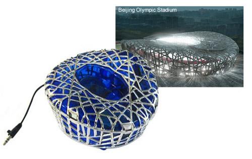 Портативная колонка в виде Олимпийского Стадиона в Пекине