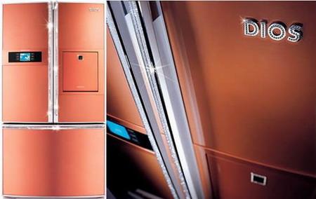 Алмазный холодильник в стразах