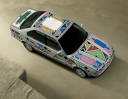 BMW 525i painted by Esther Mahlangu, 1992.