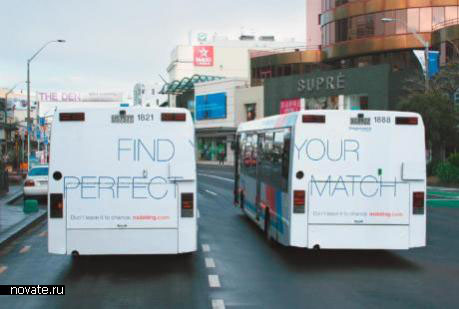 Реклама NZDating.com на автобусе