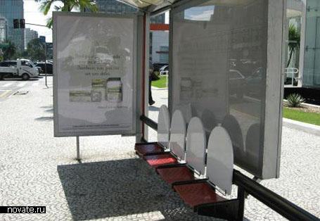 Реклама Laxatives на автобусной остановке