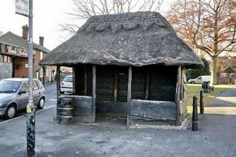 Оригинальная автобусная остановка