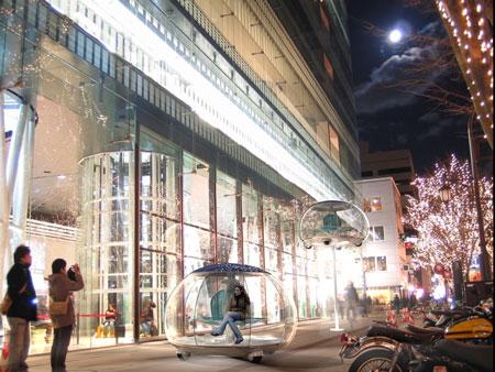 «Автомобили на палочке» - концепт городской транспортной сети от Росса Лавграва