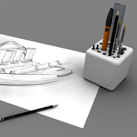Оригинальная подставка для карандашей