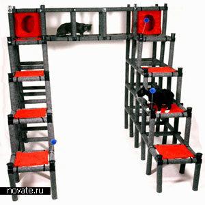 Модульная игровая площадка для котов и кошек
