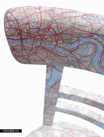 Стул-карта Лондона