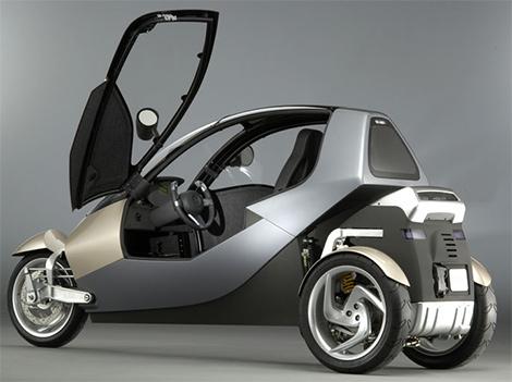Сверхэкономичный трехколесный автомобиль CLEVER
