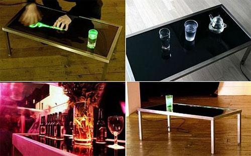 Столик с продвинутой визуальной подсветкой