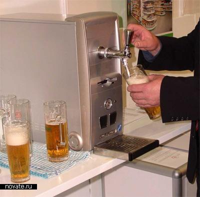 Корпус  с емкостью для хранения пива и кранами для его разлива