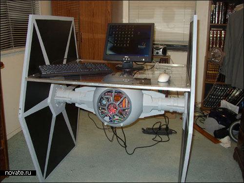 Компьютерный корпус в виде имперского Тай-Файтера из Звездных Войн