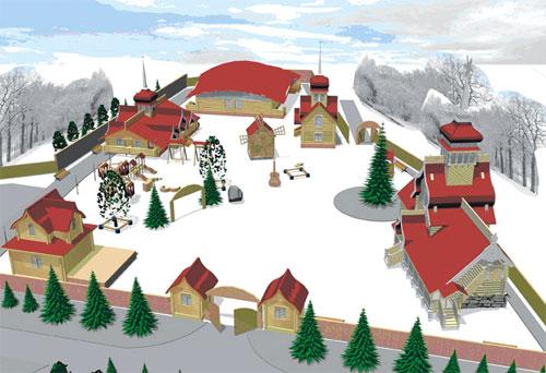 Схема московской резиденции Деда Мороза