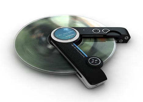 Портативный плеер, проигрывающий и mp3 и компакт-диски
