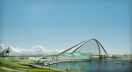 Проект самого большого моста в мире. Город Дубай.