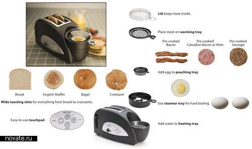 Тостер для приготовления превосходного завтрака