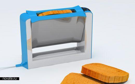 Вращающийся тостер поможет вам не обжечь пальцы