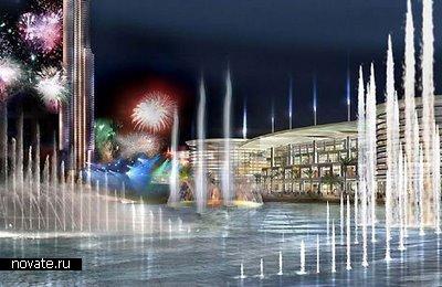 Фонтан, расположенный в Дубае