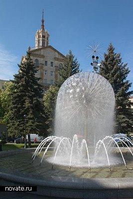 Фонтан, расположенный в Киеве