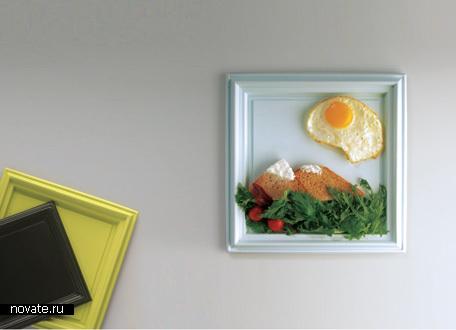 Квадратные тарелки в виде рамок для картин