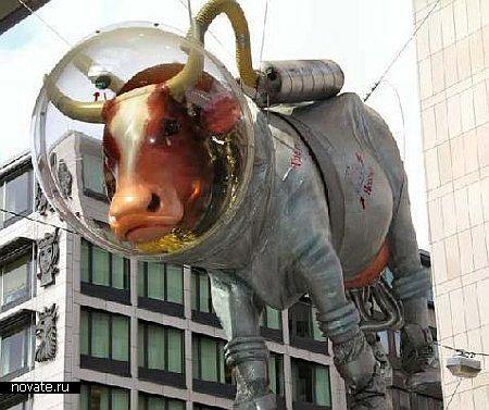 Корова в скафандре - это еще не самый удивительный памятник, который можно найти. Стокгольм, Швеция