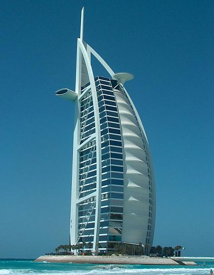 The hotel Burj al-Arab