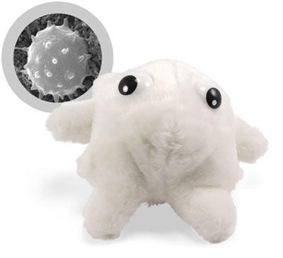 Гигантские микроб из плюша