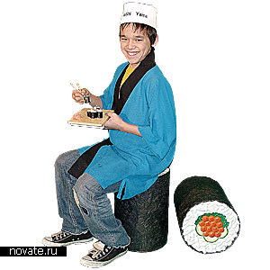 Табурет в виде суши