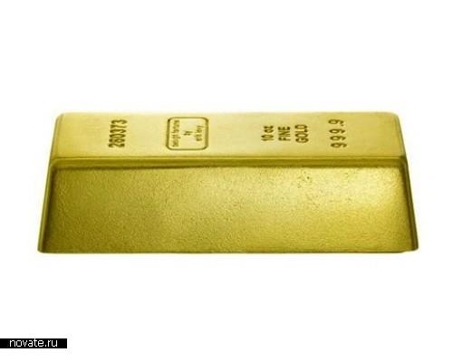 Подставка под дверь в виде золотого слитка