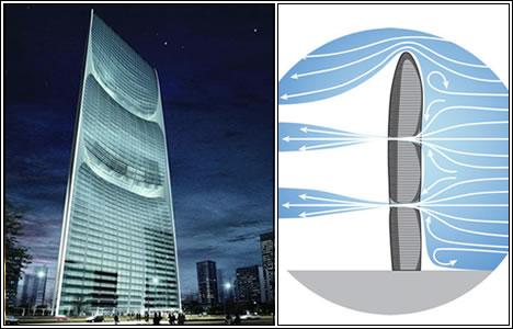 "2 место.  The Pearl River Tower ( ""Башня жемчужной реки ""), Гуанчжоу."