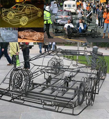 Каркасный педальный автомобиль Бенедикта Редклиффа