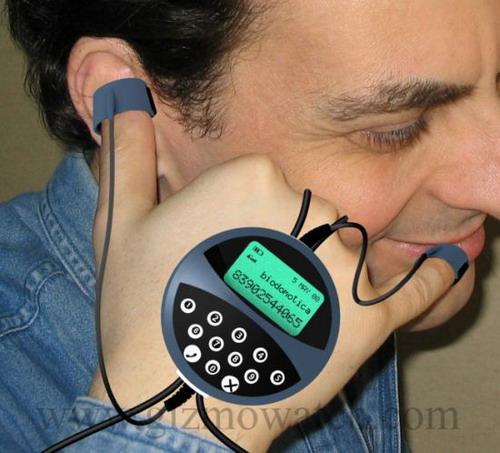 Телефон, одевающийся на руку