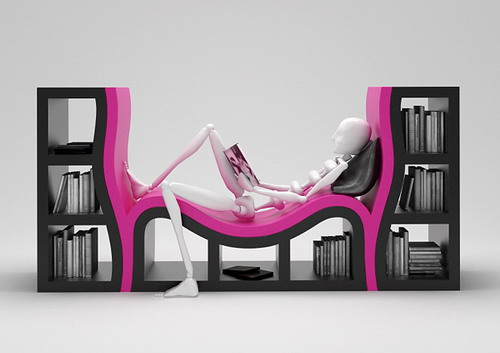 Книжный шкаф-кушетка