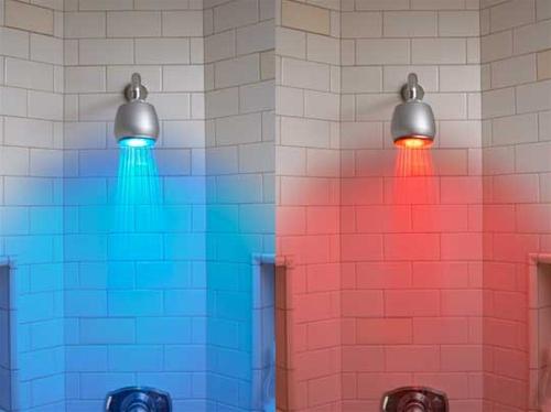 Душ с подсветкой воды