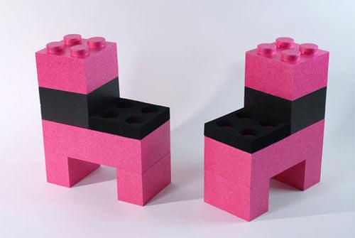 Сборная-разборная мебель из кубиков Лего