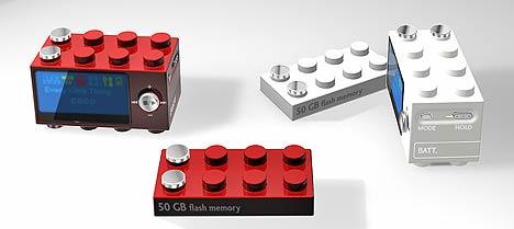 Концептуальный Blocky MP3 Player, в виде детали конструктора Лего