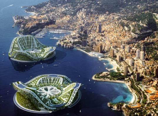 Плавающий город будущего LilyPad сможет вместить 50 тыс. человек