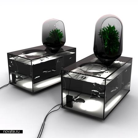 Специальный аквариум для разведения рыбы в пищу