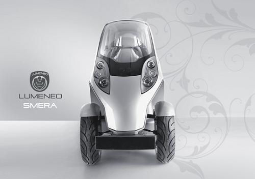 Сверхузкий автомобль Lumeneo Smera EV