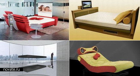 Десять высокотехнологичных роскошных кроватей