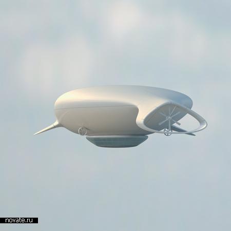 Дирижабль с авторским дизайном Manned Cloud