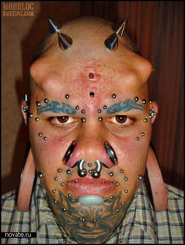 Пирсинг уроды тату фото