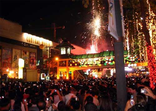 Празднование Нового Года в Бангкоке
