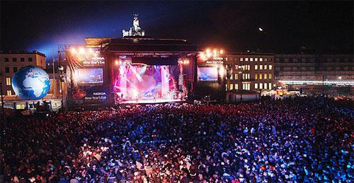 Празднование Нового Года в Берлине. Шоу Welcome 2007