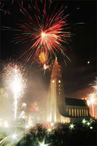 Празднование Нового Года в Рейкьявике