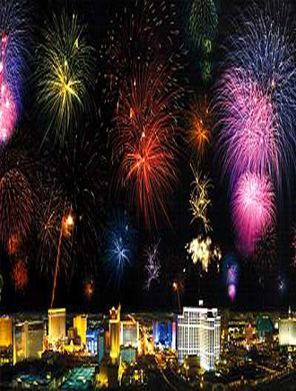 Празднование Нового Года в Лас Вегасе