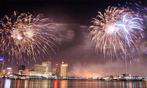 Празднование Нового Года в Новом Орлеане