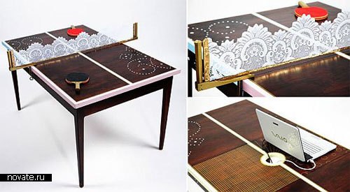 Красивый стол для работы и отдыха