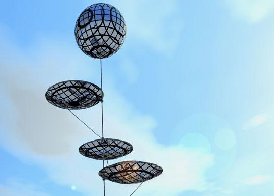 Огромные футуристичные шары, парящие в воздухе и добывающие солнечную энергию